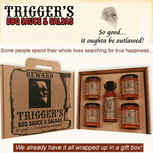 Trigger's Gourmet BBQ Sauce & Salsa Gift Box -