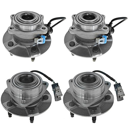 4 Piece Front & Rear Wheel Hub & Bearing Assembly Kit for Chevy Equinox Saturn Vue (4 Piece Bearing)