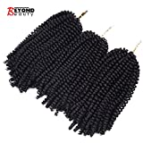 #7: 3 Pack Spring Twist Ombre Colors Crochet Braids Synthetic Braiding Hair Extensions Low Temperature Fiber (#2)