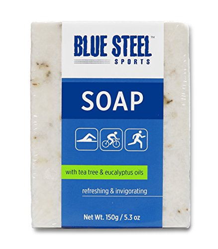 Blue Steel Sports SOAP with Tea Tree and Eucalyptus Oils – Large – 150 g / 5.3 oz