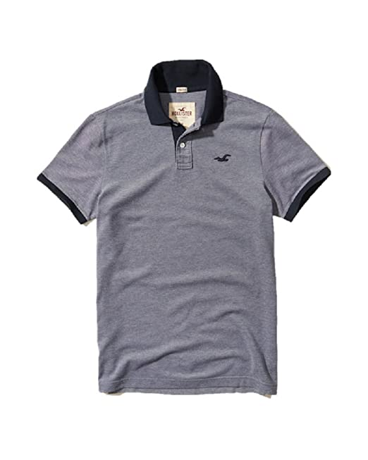 cf1228b39e Hollister New Polo Shirt TEE top Large L Epic Flex Stretch Men Blue SZ XL   Amazon.co.uk  Clothing