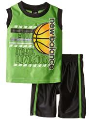(新品)1.4折,$3.50,New Balance Sport Short新百伦绿色背心+短裤,