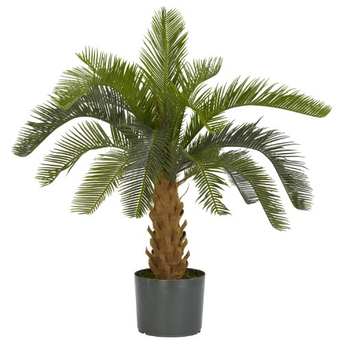 Cycas Plant - Nearly Natural 6099 Cycas Decorative Silk Plant, Green