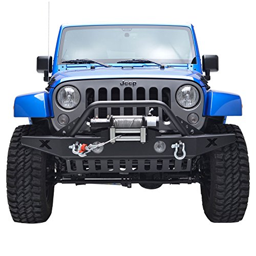 Best Bumper For Jeep Jk : E autogrilles black front bumper jeep