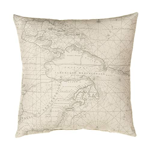 Glenna Jean Air Traffic, Pillow Map, Blue/Red