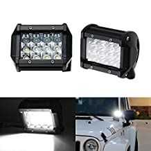 iJDMTOY (2) Xenon White 36W LED Dually Pod Lights For Truck SUV Jeep Off-Road ATV 4x4 Fog Driving Lights, Backup Reverse Lamps, Search Lighting, etc