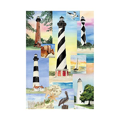 Lighthouse Banner (Outdoor Holiday Flag The Lighthouse Banner Outdoors Flags Of Double Sided Waterproof And Fade Resistant Printed banners 28 X 40 Inch 100%)