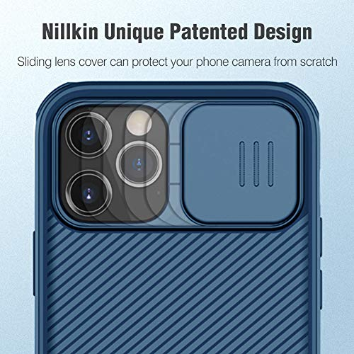 Nillkin CamShield Pro Slim Case Compatible with iPhone 12 Pro Max, Protective Cover Case with Camera Protector for 12 Pro Max Hard PC and TPU Phone Case for Phone 12 Pro Max 6.7'' Blue