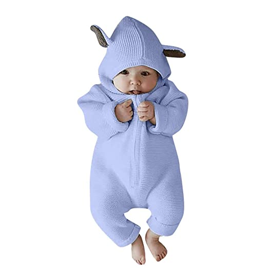Amlaiworld Monos Bebe, Recién Nacido bebé niña niño Historieta 3D Mameluco del oído Monos Ropa de Invierno cálido Bodies Monos Peleles Ropa Bebes: ...