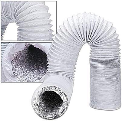Cherishly 2/3M Papel de aluminio Tubo aire acondicionado(Ø15CM),Conducto de tubo de escape de ventilación telescópica para campanas extractoras, ventiladores de escape, ventilación industrial feasible: Amazon.es: Hogar