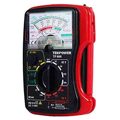 Tekpower TP668 Palm-size 13-range Analog Multimeter with 1.5V and 9V Battery Tester