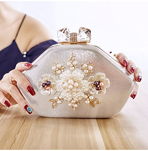 PU Mode Sac Dîner Sac Mini argent à Main Fleur Sac Dames Sac de MYJ 0wnq4tPt