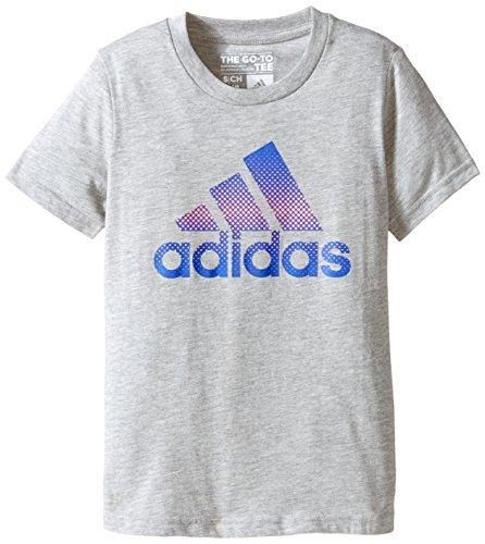 adidas Big Girls' Radiate T-Shirt, Medium Grey, Large