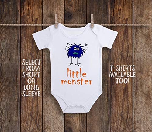(Funny Little Monster Halloween Day of the Dead Toddler Kids Tee Shirt or Baby)