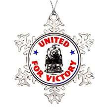 7th Gener Tree Branch Decoration Railroads United For War Effort 1940 Stained Glass Christmas Snowflake Ornaments Steam Locomotives