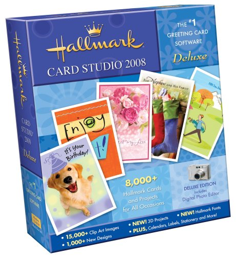 Hallmark Card Studio 2008 Deluxe [OLD VERSION] by Nova Development US