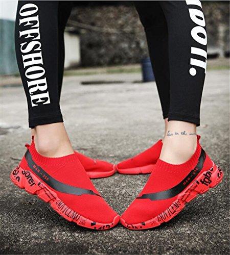 de Moda Holgazanes Zapatos New Zapatos Ocasionales Knit Summer Cómodos Señoras de Lovers de Las Resbalón Planos en Sneakers Do la Mujer Uwwgvq7