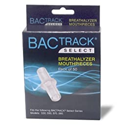 BACtrack Breathalyzer Mouthpieces (Pack of 50)
