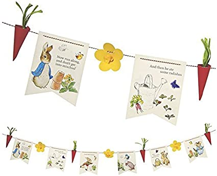 2 x peter rabbit tissue paper hanging butterflies party birthday decorations