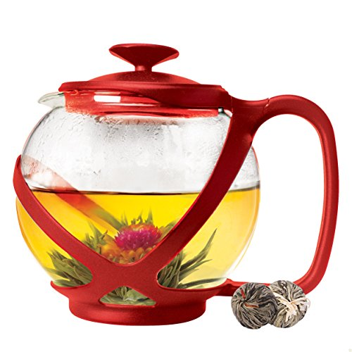 2 cup teapot with infuser basket - 2