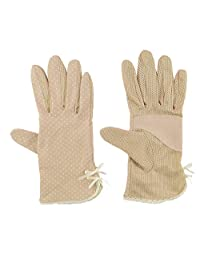 Womens Sun Screen Gloves UV Sun Gloves UPF 50 Lightweight Gloves UV Driving Gloves Khaki