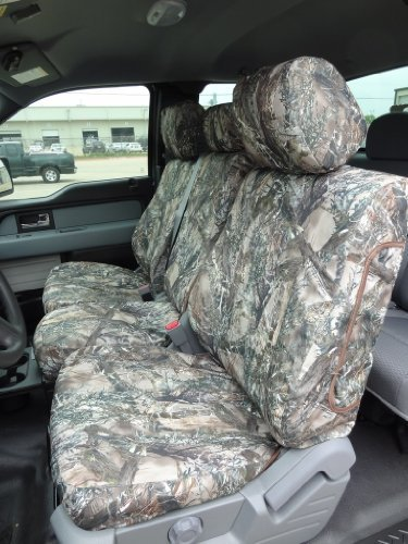 Exact Seat Covers, FD65 F480/F490 MC2-C, Custom Exact Fit Seat Covers Designed For 2011-2013 Ford F150 XLT and Model Front 40/20/40 Split Seat with Center Fold Down Armrest and Rear (Fold Down Center)