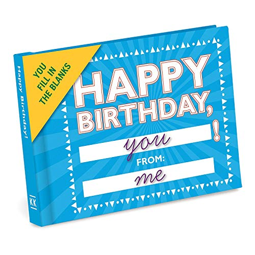 Knock Knock Happy Birthday to You Fill in the Love Book Fill-in-the-Blank Gift Journal