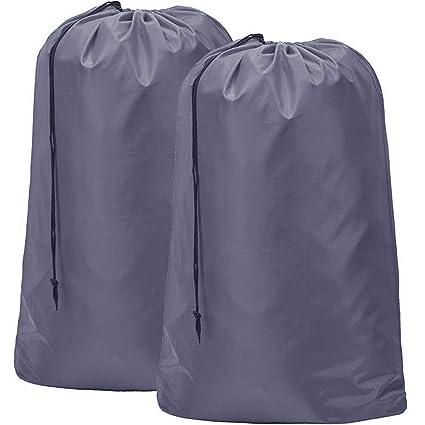 3a74b2f19338b Amazon.com  HOMEST 2 Pack 28  x40   Extra Large Travel Nylon Laundry Bag  Machine Washable Sturdy Rip-Stop Material Drawstring Closure