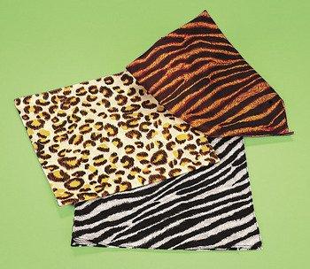 Dozen Assorted Safari Animal Print Bandannas
