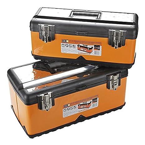ALYCO 170790 - Pack 2 cajas metalicas con bandeja interior High Resistace: Amazon.es: Bricolaje y herramientas