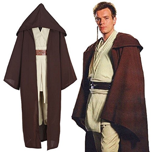 Smile Style Star Wars Jedi Robe Adult Costume Brwon with White Version (Anakin Skywalker Robe)