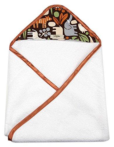 My Blankee Newborn Hooded Baby Boy Towel, Chocolate Zoo by My Blankee