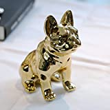 Eastyle Dog Piggy Banks Electroplate Bulldog Coin Bank (Golden)