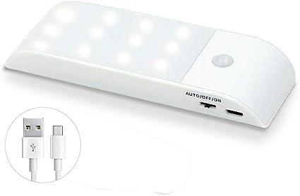 Luz Nocturna Luces LED | Armario con Sensor Movimiento Lámpara Nocturna Recargable con 3 Modos Luz Cálida | para ArmarioPasillo, Escalera, Sótano, Cocina, Garaje, Gabinete y Baño: Amazon.es: Iluminación