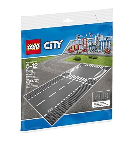 LEGO 4277502 City Straight and Crossroads (Lego City Baseplate)