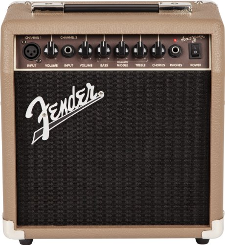 Fender Acoustasonic 15 – 15 Watt Acoustic Guitar - Acoustic Portable Amps