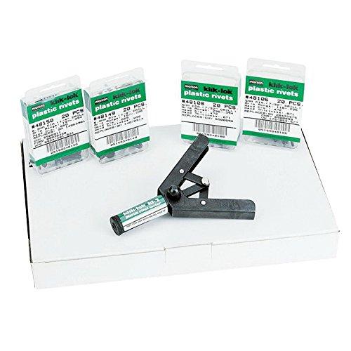 M48006, Marson Manual Tool, Marson Klik-Lok Plastic Rivet, Kit W/M48005 Kl-2 Rivet Setter (1 (Klik Lok Plastic Rivet)