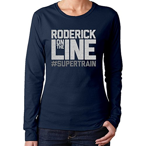 Fashion Roderick On The Line Supertrain Podcasting T-shirts Women - Line Clothing Holmes