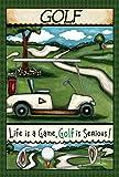 Toland Home Garden Going Golfing 12.5 x 18 Inch Decorative Fun Sport Outdoors Golf Course Tee Club Game Garden Flag