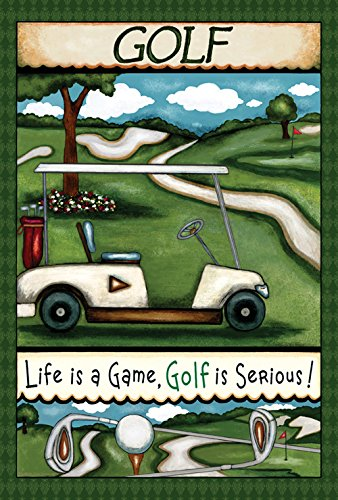 Toland Home Garden Going Golfing 12.5 x 18 Inch Decorative Fun Sport Outdoors Golf Course Tee Club Game Garden Flag