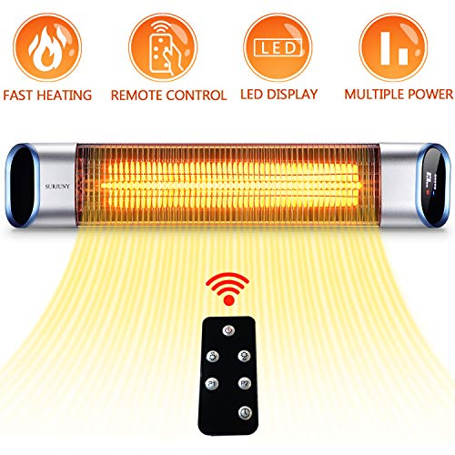 SURJUNY Electric Outdoor Heater, Outdoor Wall-Mounted Infrared Patio Heater with covid 19 (Electric Infrared Wall coronavirus)