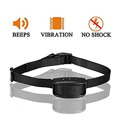 Oternal No Bark Dog Collars with Stimulation of the Warning Sound and Vibration(no shock), an Pain free and no Hurt Dog training Collars for the Dogs Weighing 10-35 lbs, 5% Off for 2 Items by Oternal