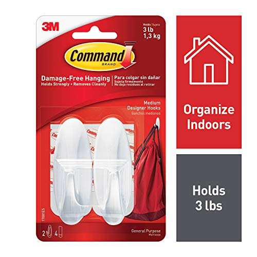 Command Damage-Free Hanging Designer Hooks, 2ct