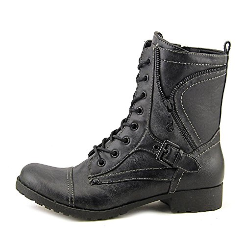 GUESS Womens Brylee Leather Closed Toe Ankle Fashion Boots