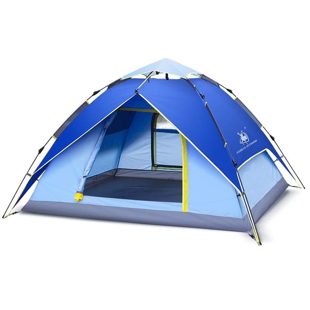 QYQ Zelt im Freien Zelt Oxford Tuch verdicken einschichtiges automatisches Zelt wasserdichtes umweltfreundliches Gewebe für Strand, Outdoor, Reisen, Wandern, Camping, Jagd (Farbe   Blau)