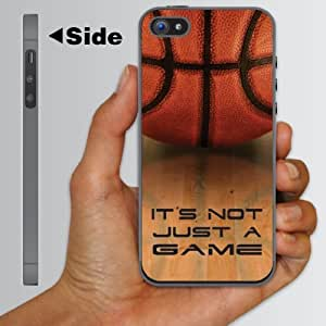 """iPhone 5 Case - Basketball Design """"It's Not Just a Game!"""" - CLEAR Protective Hard Case"""
