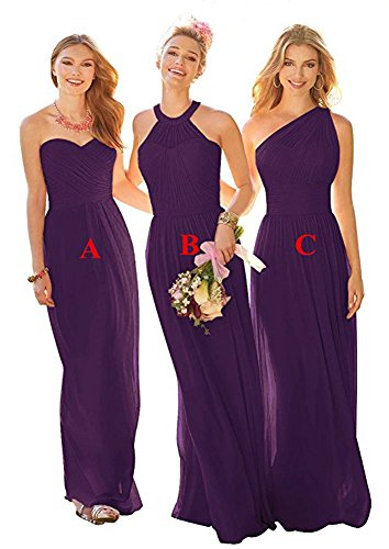 the Leader Linie Kleid b of Purple A Damen Beauty F41W4q