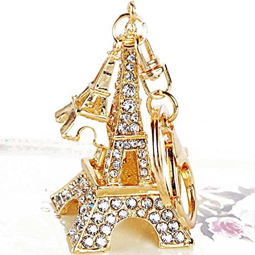 Yosoo Rhinestone Eiffel Tower Shaped Keychain Crystal Eiffel Tower Keyring Cute!!