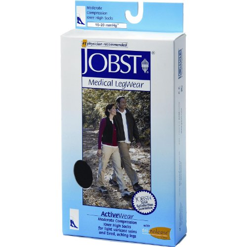 McKesson Jobst Activewear Knee High Moderate 15-20 mmHg Compression Socks, Small (Small)