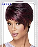 Hot products!!Meisi Hair products Heat Resistant Synthetic Bobo Mixture Colors #F1B/99J Short Wigs for Women